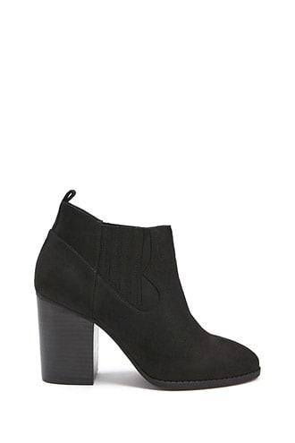 Forever21 Western-inspired Faux Suede Booties