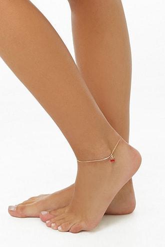 Forever21 Cherry Charm Anklet