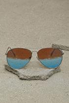 Forever21 Mens Mirror Aviator Sunglasses