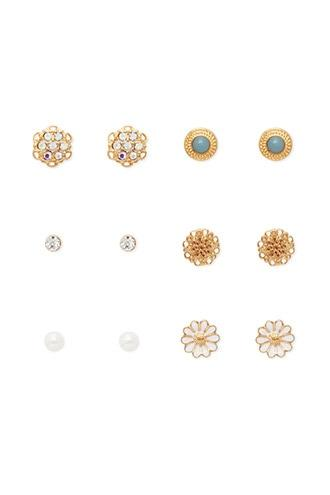 Forever21 Faux Pearl Stud Earring Set