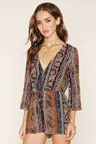 Forever21 Abstract Paisley Romper