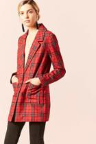 Forever21 Single-breasted Plaid Blazer