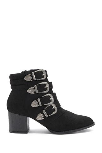 Forever21 Lemon Drop By Privileged Buckle-strap Booties