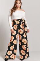 Forever21 Plus Size Floral Wide-leg Pants