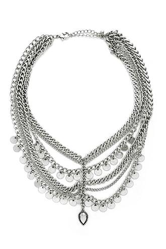 Forever21 Disc Statement Necklace