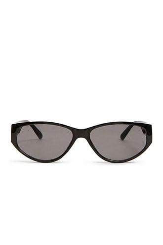 Forever21 Oval Solid Sunglasses