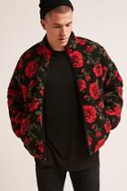 Forever21 Floral Fleece Jacket