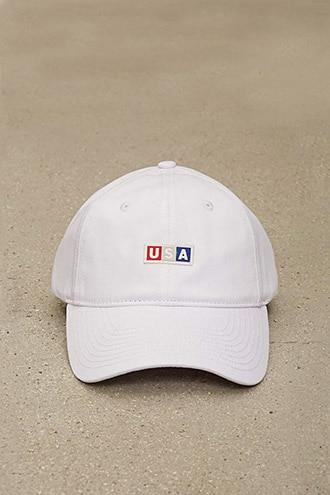 Forever21 Official Usa Logo Patch Cap