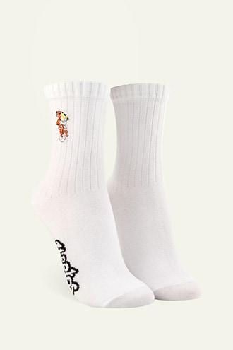 Forever21 Chester The Cheetah Crew Socks