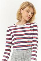 Forever21 Striped Long Sleeve Top