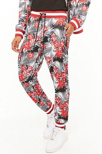Forever21 Floral Print Track Pants