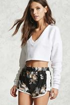 Forever21 Floral Print Dolphin Shorts