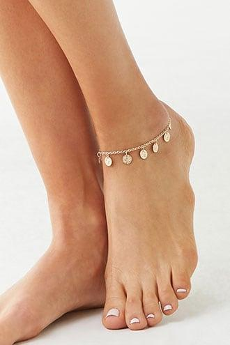 Forever21 Ancient Coin Charm Anklet