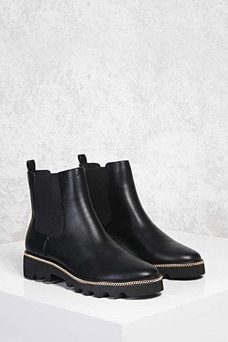 Forever21 Curb Chain Chelsea Boots