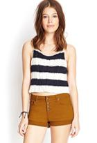 Forever21 Buttoned-up Denim Shorts