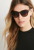 Forever21 Matte Tortoiseshell Round Sunglasses