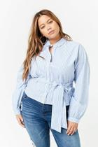 Forever21 Plus Size Pinstriped Shirt