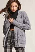 Forever21 Chenille Cable-knit Cardigan