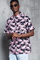 Forever21 Flamingo Print Shirt