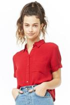 Forever21 Patterned Cropped Shirt