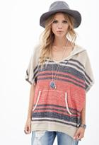Forever21 Striped Batwing Hoodie