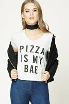 Forever21 Pizza Is My Bae Graphic Tee