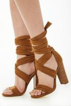 Forever21 Faux Suede Strappy Block Heels