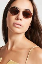 Forever21 Mirrored Oval Sunglasses