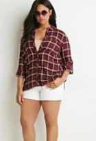 Forever21 Plus Tartan Plaid Shirt