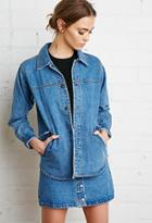 Forever21 Snap-button Boxy Denim Jacket