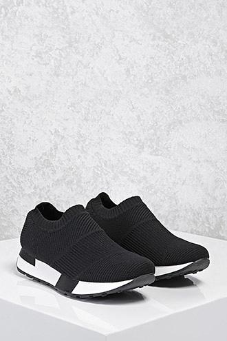 Forever21 Textured Slip-on Sneakers