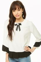 Forever21 Pleated-trim Ribbon Top