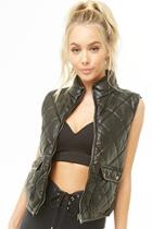 Forever21 Quilted Faux Leather Vest