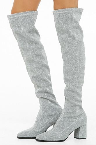 Forever21 Lemon Drop By Privileged Over-the-knee Sock Boots