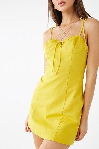 Forever21 Linen-blend Cami Mini Dress