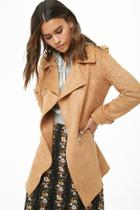 Forever21 Longline Faux Suede Moto Jacket