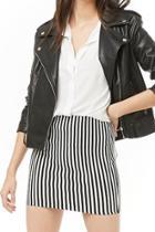 Forever21 Striped Bodycon Mini Skirt