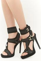 Forever21 Shoe Republic Strappy Stiletto Heels