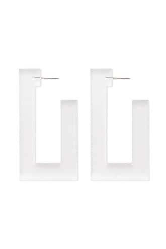 Forever21 Lucite Rectangle Drop Earrings