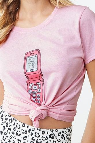 Forever21 Daisy Street Cellphone Graphic Tee