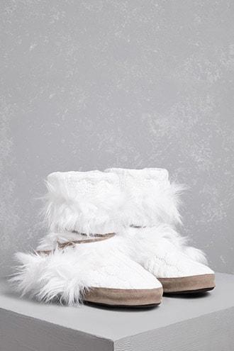 Forever21 Muk Luks Faux Fur Boots