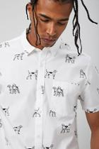Forever21 Dog Print Shirt