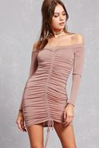 Forever21 Ruched Satin Bodycon Dress