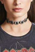 Forever21 Faux Leather Medallion Choker