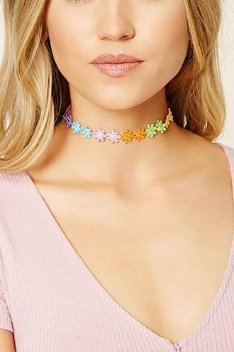 Forever21 Crochet Floral Choker