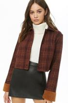 Forever21 Cropped Plaid Jacket
