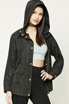 Forever21 Hooded Drawstring Jacket