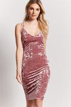 Forever21 Crushed Velvet Midi Dress