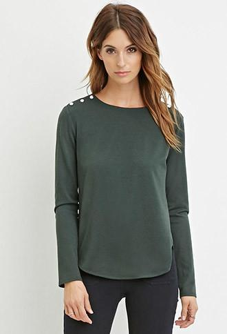 Love21 Buttoned Combo Top