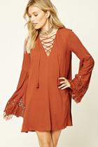 Love21 Women's  Contemporary Bell-sleeve Dress